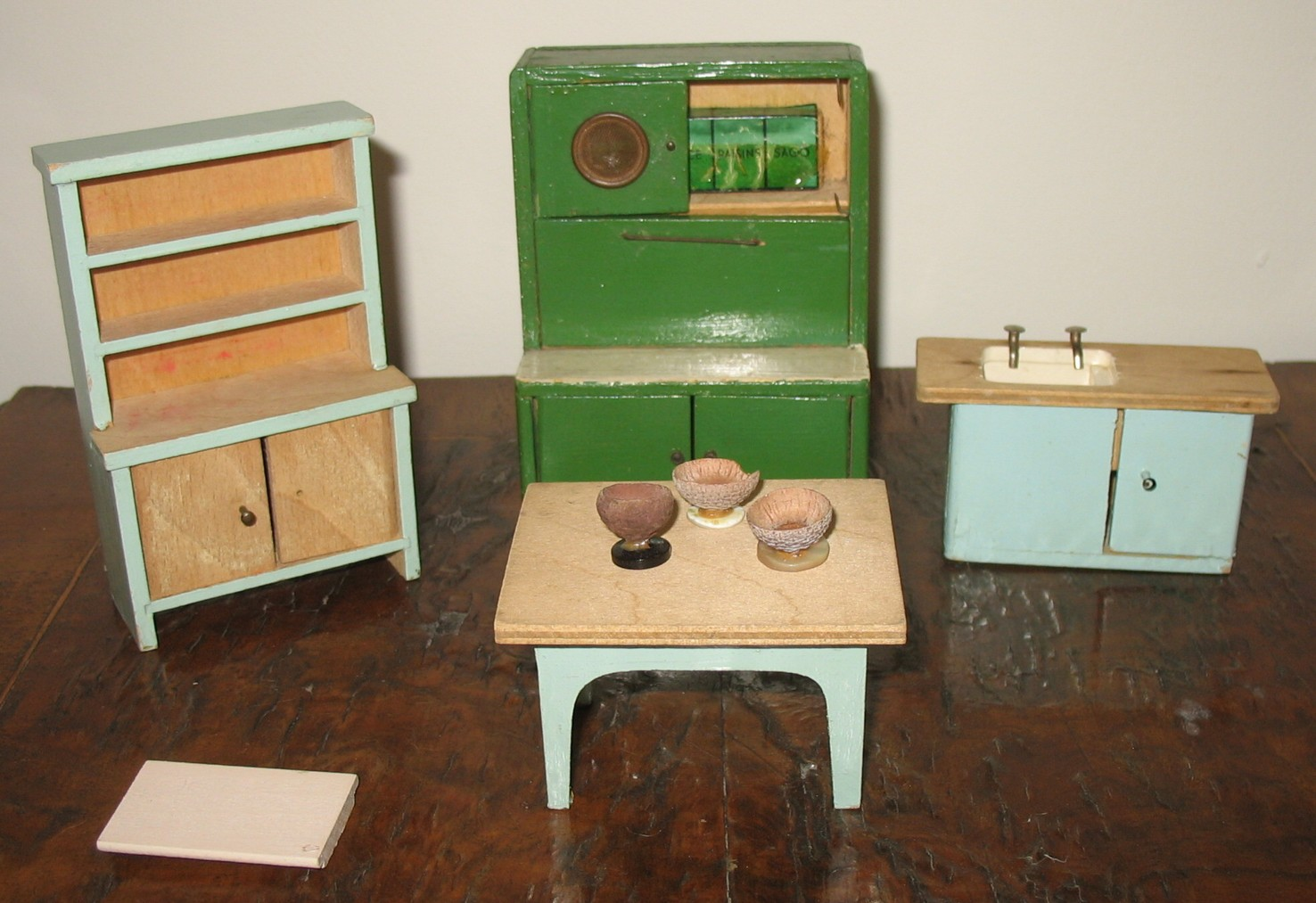 ... I Were Lucky Enough To Play With This Quite Rare Pit A Pat Kitchen  Dresser (shown Here With A Few Other Pieces Of Our Childhood Dolls House  Furniture).