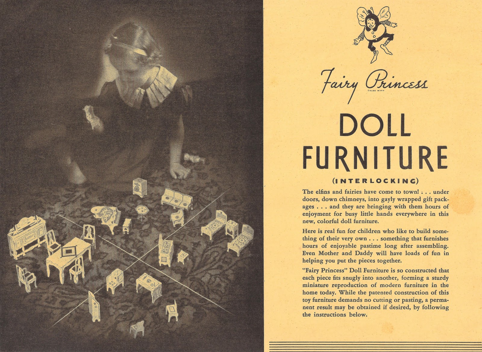 Fairy Princess Doll Furniture by Florine Bettge - Dolls\' Houses Past ...
