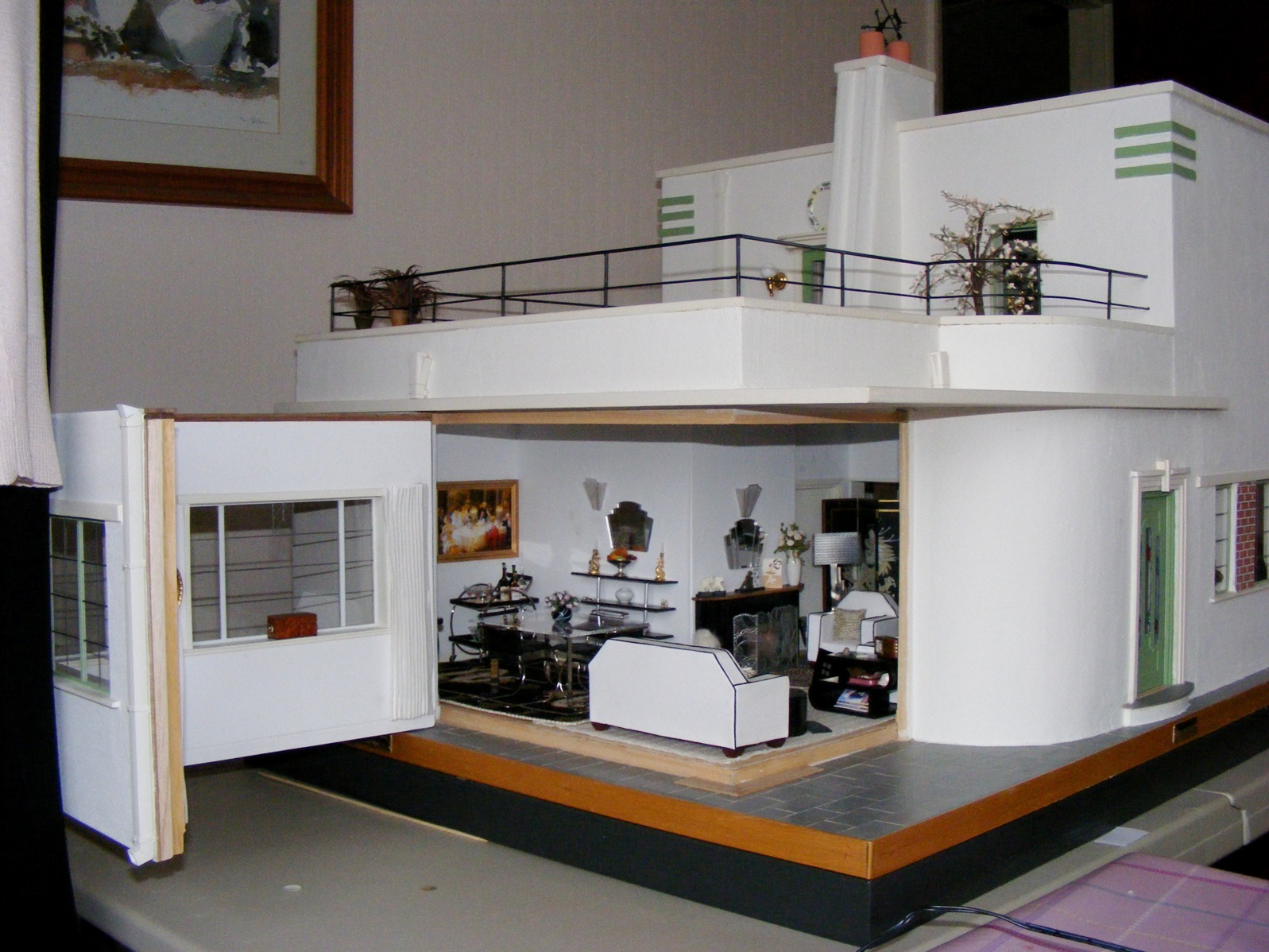 an art deco dolls house made and furnished by artisans by jazz
