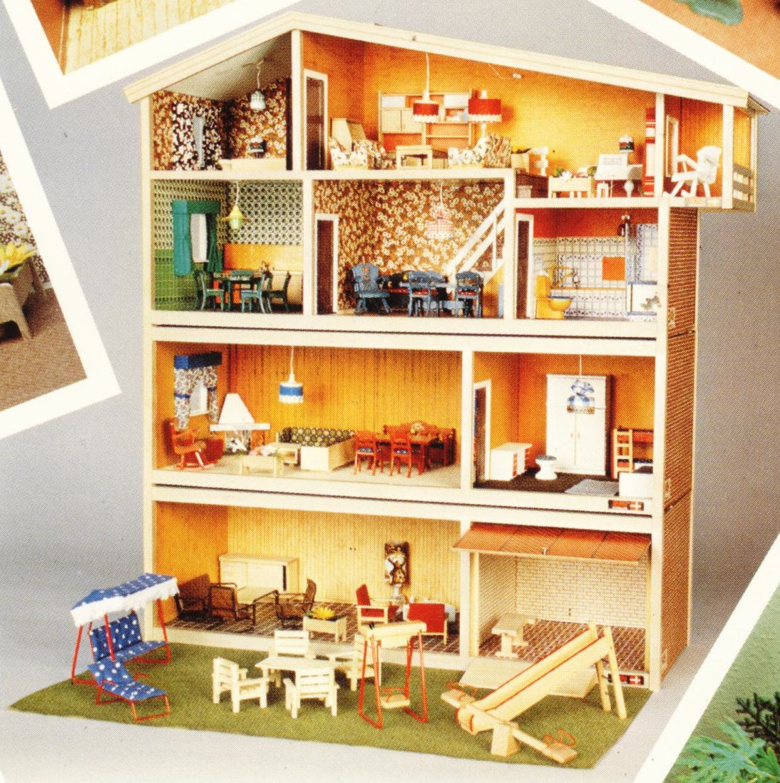 Denmarks Hanse And Lisa Dollhouses By Valérie Braun English - Dolls house interior
