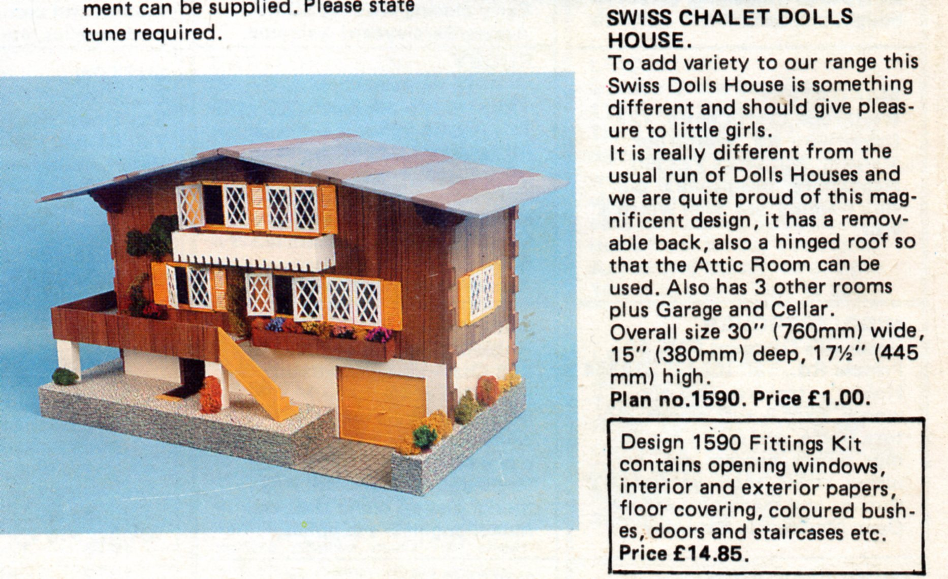 Chalet dolls houses by rebecca green dolls 39 houses past for Swiss chalet plans