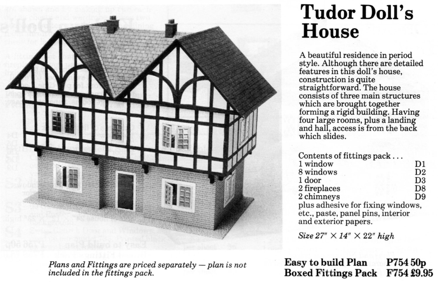 Tudor style dolls house plans for Tudor house plans with photos