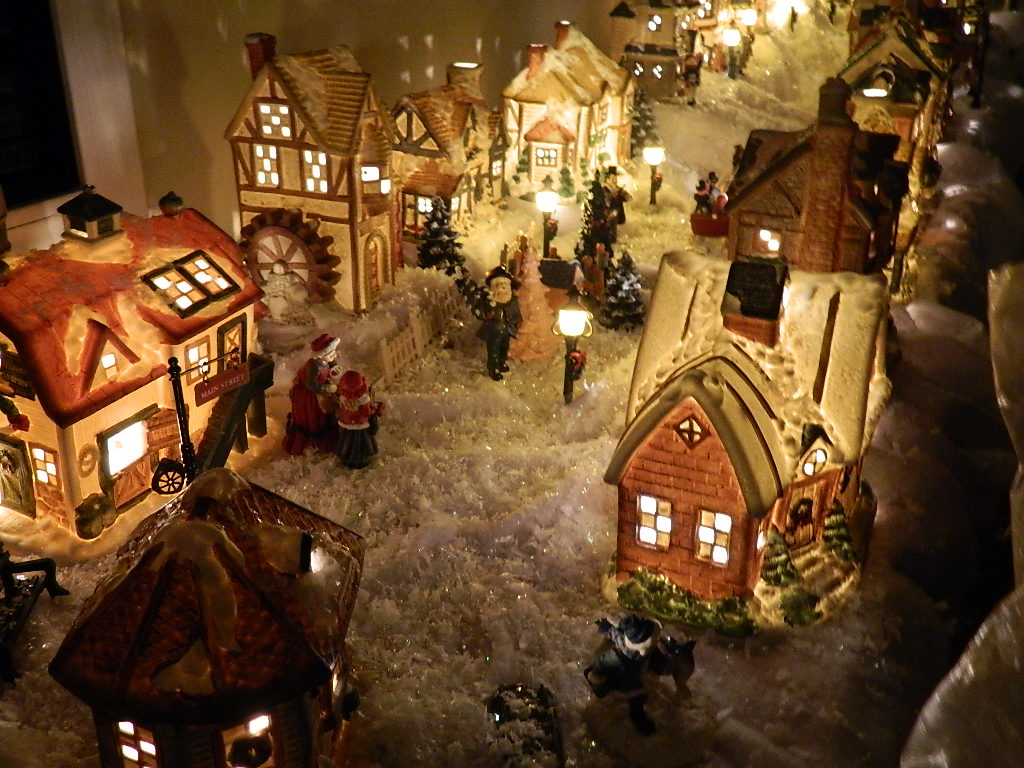 Christmas Houses Village.Our Christmas Village By Troy Bettridge Dolls Houses Past