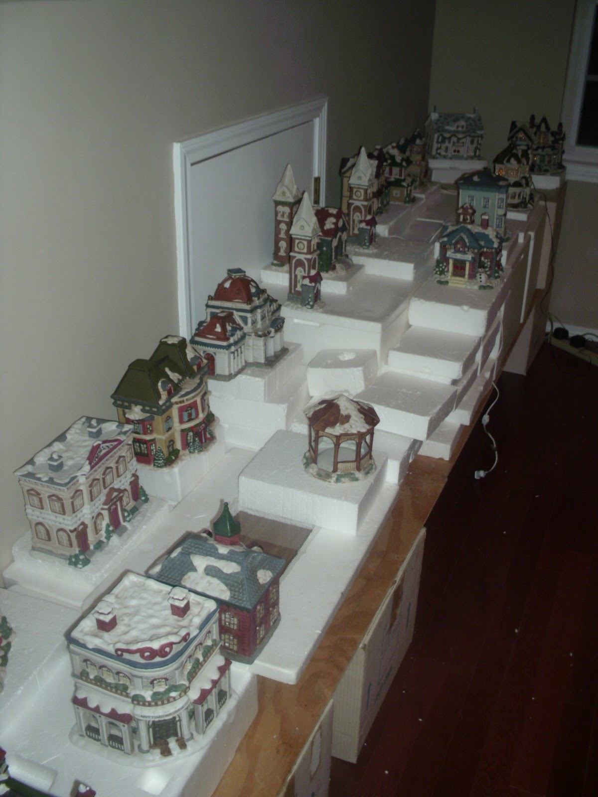 Christmas Village Platforms.Our Christmas Village By Troy Bettridge Dolls Houses Past
